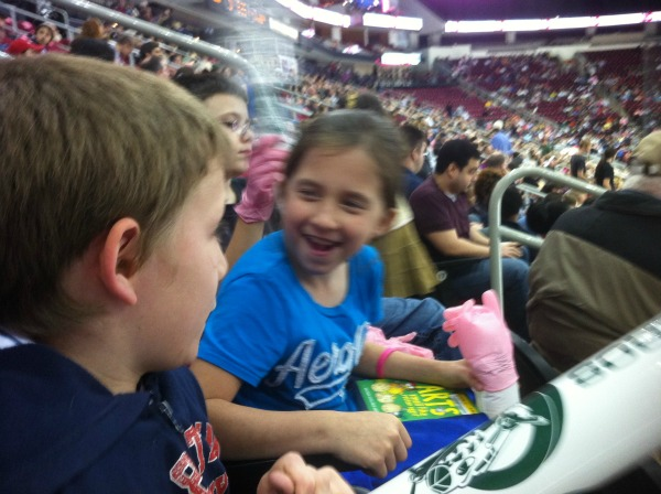 Their first hockey game and they were hooked – Wordless Wednesday