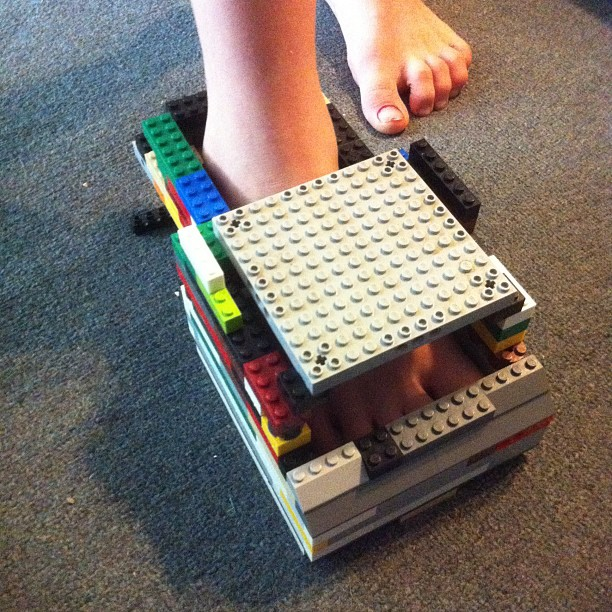 He can make everything out of Legos….even shoes….Wordless Wednesday