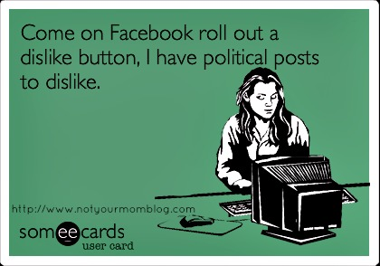 So tired of political posts!