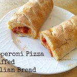 pepperoni pizza stuffed italian bread