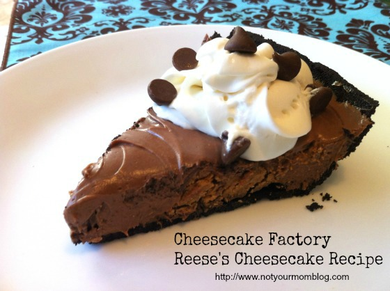 cheesecake factory reese's cheesecake recipe