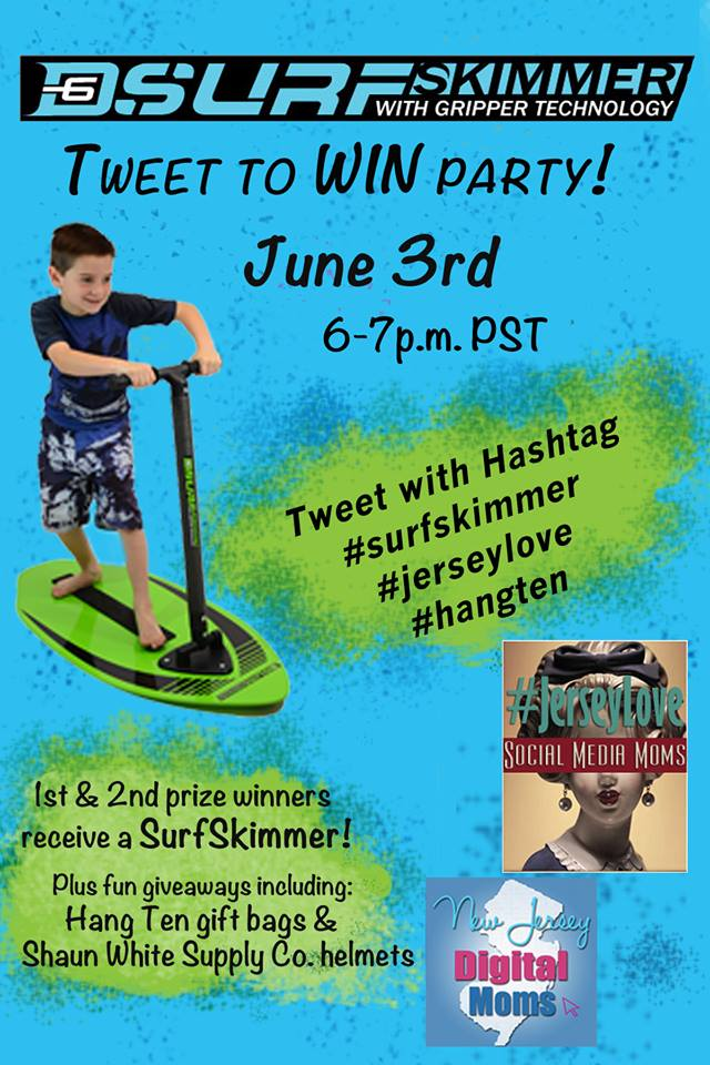 D6 Surfskimmer Twitter Party for #JerseyLove