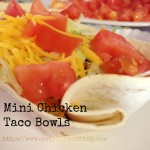 mini chicken taco bowls