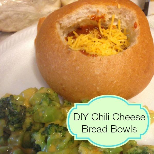 diy chili cheese bread bowls