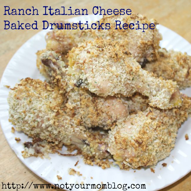 Ranch Italian Cheese Baked Chicken Drumstick Recipe