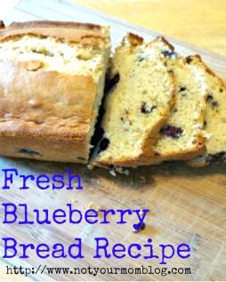 Fresh Blueberry Bread Recipe