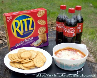 Delicious Pizza Dip Recipe with Ritz Crackers and Coca-Cola #BowlTimeSnacks #CollectiveBias #AD