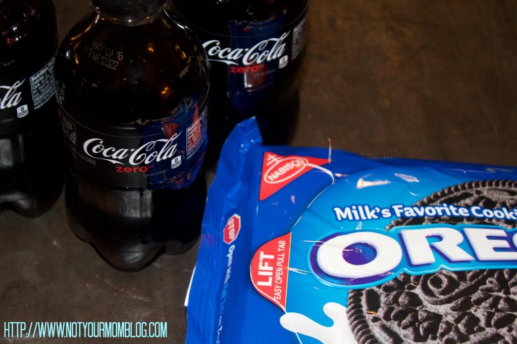 coke zero and oreos